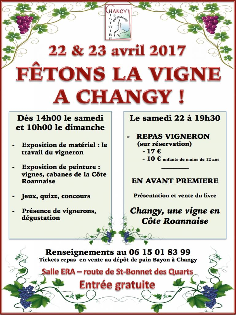 "Exposition ""La vigne à Changy"" 22 & 23 avril 2017"