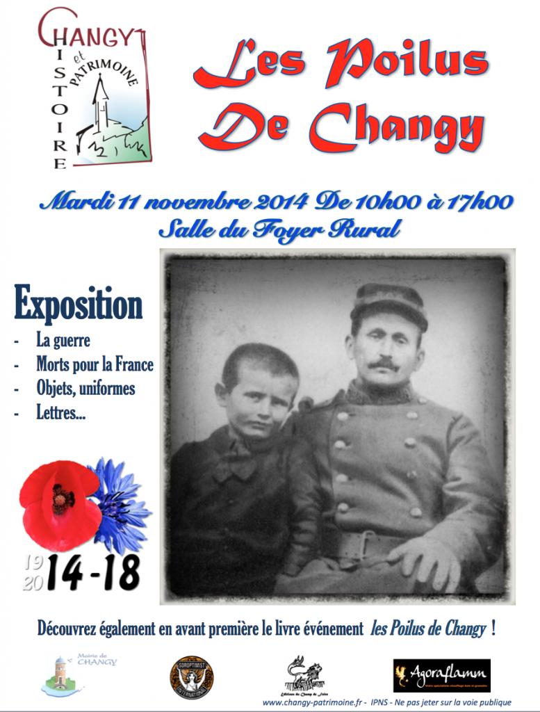 """Exposition """"Les Poilus de Changy"""", 11 novembre 2014"""