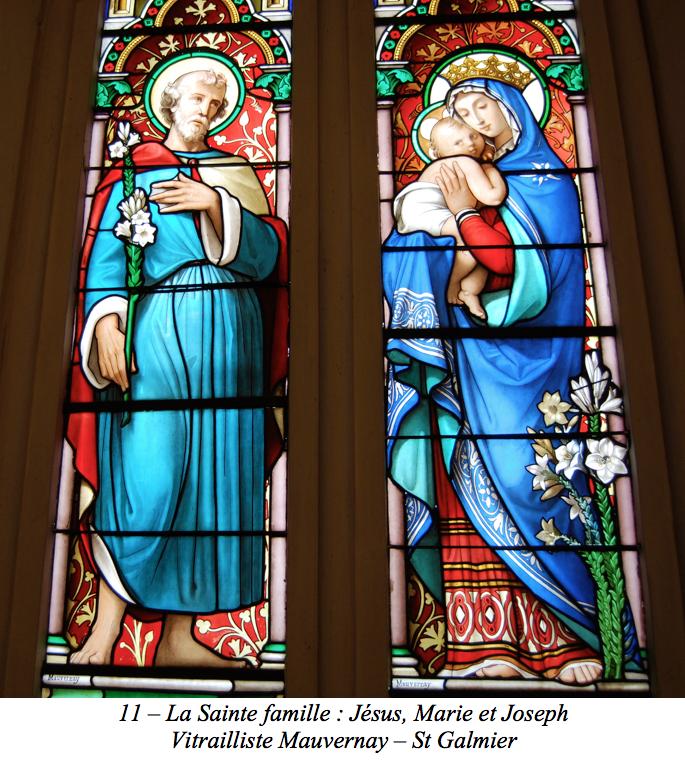 La Sainte famille : Jésus, Marie et Joseph