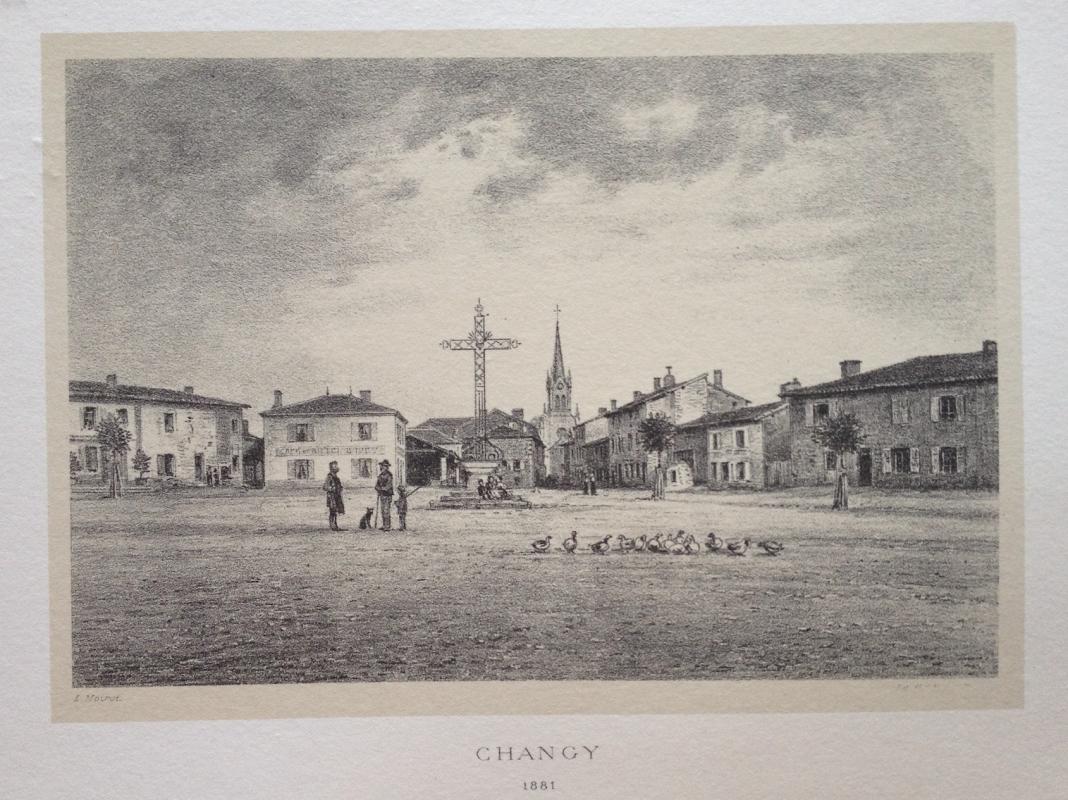 Changy en 1881 par emile noirot